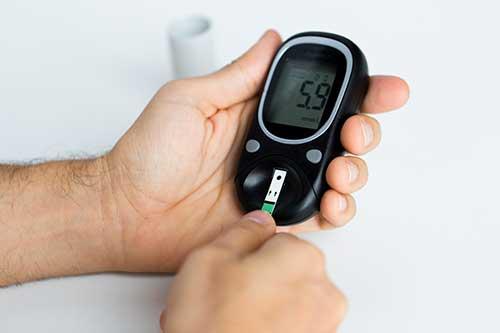 Diabetologie - Messung des Blutzuckergehalts